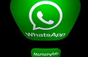 The logo of WhatsApp mobile messaging service.