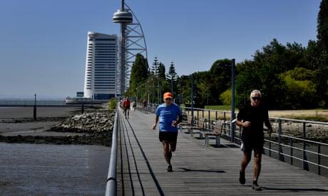 Joggers in Lisbon