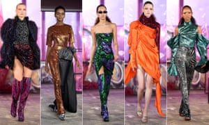 Sequins and bold colours make a statement at London Fashion Week.