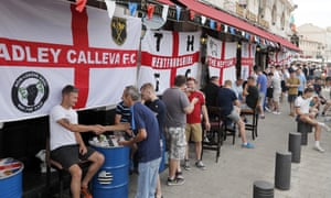 England fans in Marseille on Friday