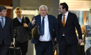 Clive Palmer (centre) has consistently denied he owed anything to the workers.