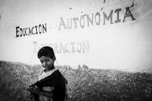Slogan on wall of special education centre in Sahrawi, Dahkla refugee camp.