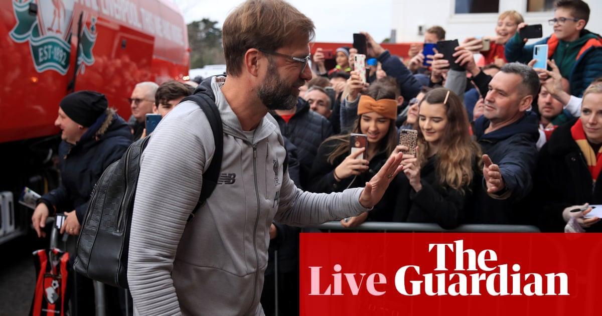 Bournemouth v Liverpool, Tottenham v Burnley and more: clockwatch –live! | Football