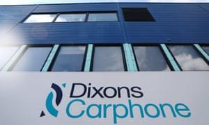 Dixons Carphone sign at HQ