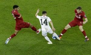 PSG's Juan Bernat shoots and scores