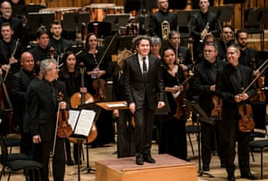 Gustavo Dudamel with the Los Angeles Philharmonic at the Barbican.