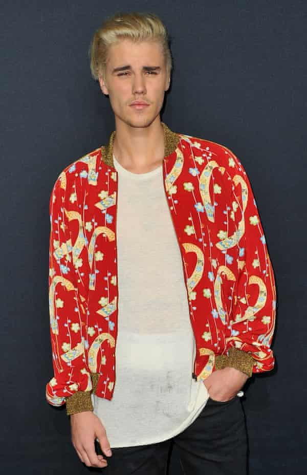 """Justin Bieber: the plain white T-shirt of his dreams """"literally didn't exist in the marketplace""""."""