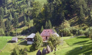 View of the exterior of Dan Marin Carpathian wildlife tours and guesthouse.