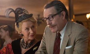 A story that needed to be told … Helen Mirren as Hedda Hopper and Bryan Cranston as Dalton Trumbo