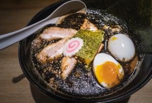 Japanese ramen noodles soup