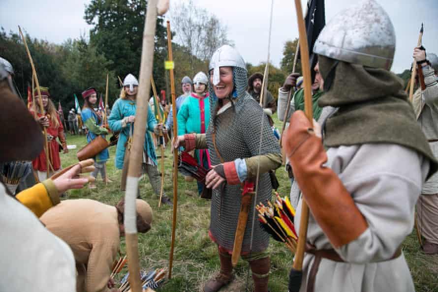 Maiken Lykke Bagley prepares her fellow archers for battle