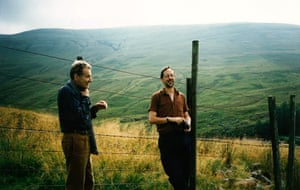 Lucian Freud, left, with WIlliam Feaver in Scotland, 1995