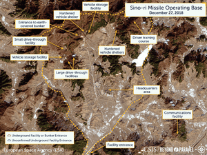 North Korea's Sino-ri missile site, one of 20 the regime is suspected of failing to declare.