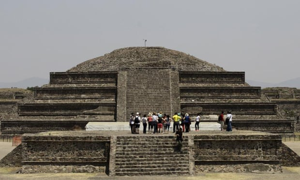 Quetzalcoatl (Serpente Piumato) Temple messico