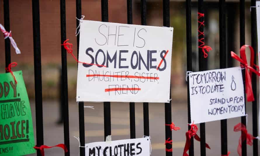 Protest posters against rape culture.