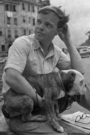 Truman Capote in Portofino in the 1950s .