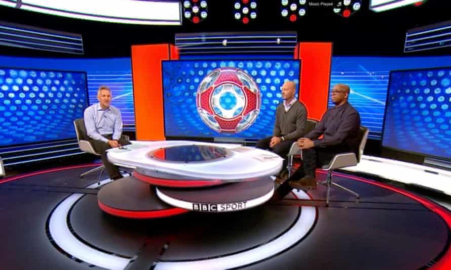 Match of the Day's Gary Lineker, Alan Shearer and Ian Wright