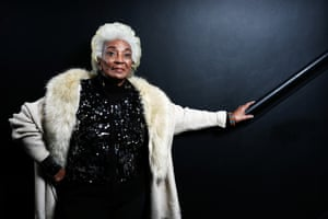 Actor, Nichelle Nichols (Uhura from the original Star Trek).