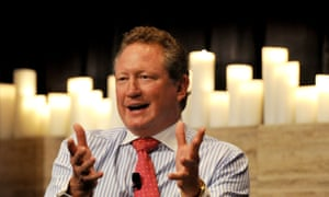 Mining billionaire Andrew Forrest: 'If you don't report it. Barbecued,' he told suppliers.