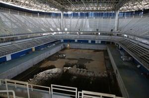 Inside the Aquatics Stadium