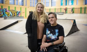 Emily Hunter and Mason Hawker, both 19, are volunteer workers at the Minehead Eye youth centre and skate park.
