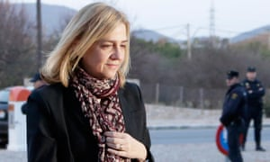 Princess Cristina arriving in court this month