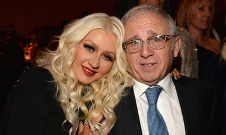 Irving Azoff with Christina Aguilera in February this year.