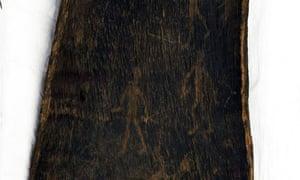 Aboriginal bark etching