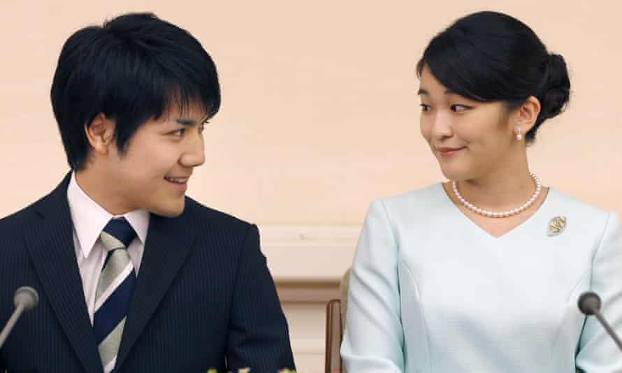 Japan's Princess Mako and her fiance Kei Komuro.