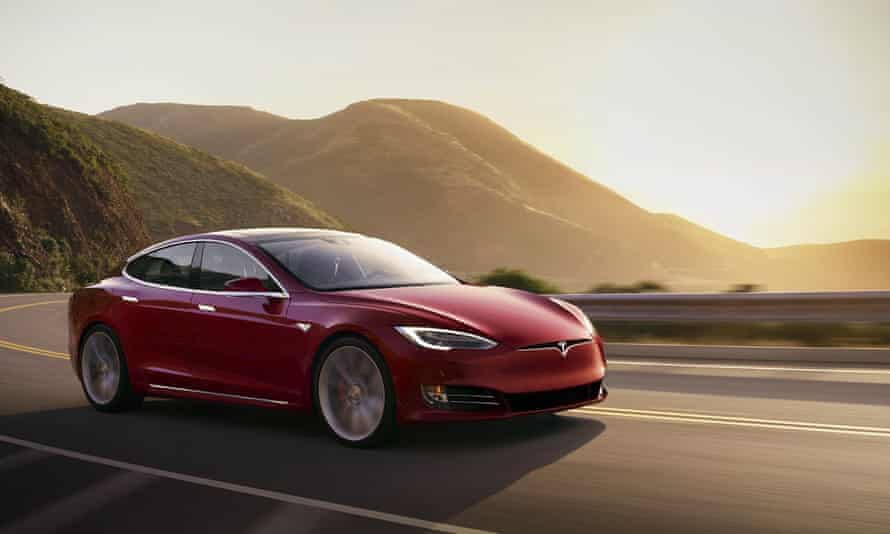 The Tesla Model S, a premium electric sedan. The company's shares dropped by 7.5% in early trading in the US on Friday to $575.