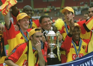 In May 1999 Watford won the Division One play-off final, beating Bolton Wanderers 2–0 at Wembley, and with it promotion to the Premier League.