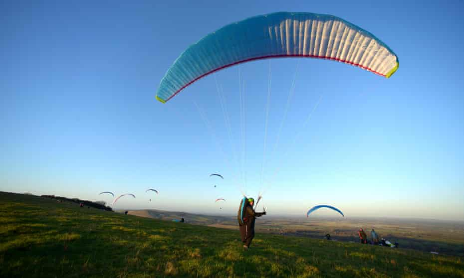 Paraglider the South Downs National Park