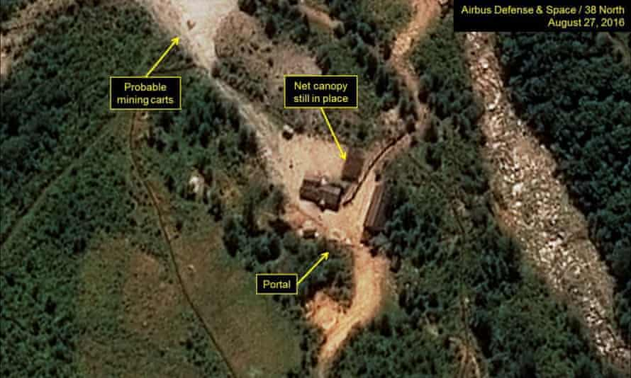 A satellite image purportedly shows a North Korean nuclear test site in an unknown location in the northeastern part of the country.