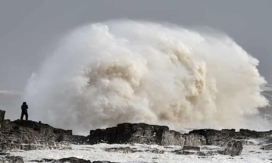 Porthcawl in Wales as Storm Imogen slammed into the British coast