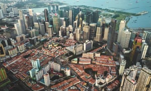 Singapore's Chinatown shot from above by drone by Jeryl Teo.