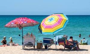 Arenal beach in Palma de Mallorca, Balearic Islands, Spain