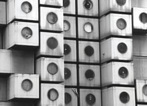 Nakagin Capsule Tower, Tokyo, Japan, 1972 by Kisho & Kurokawa Architect & Associates.