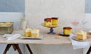 Peanut-coconut tres leches cake and yellow sheet cake