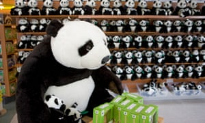 Toy pandas on sale at the zoo's gift shop