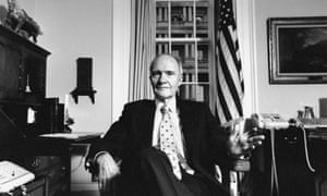 Brent Scowcroft in his office at the White House. The US's signing of the Start II treaty with Boris Yeltsin in 1993 and his accumulated moves to reduce nuclear instability will probably be Scowcroft's most enduring legacy.