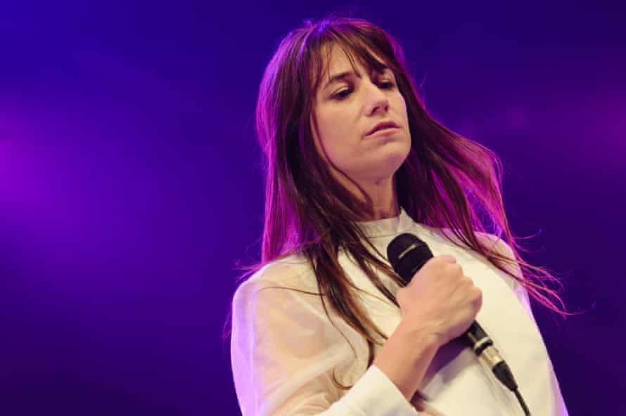 Charlotte Gainsbourg performing at Somerset House, London, in 2012.