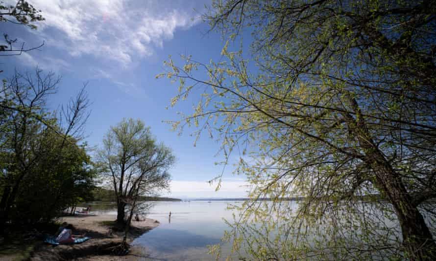 Lake Ammersee near Munich, Bavaria, Germany