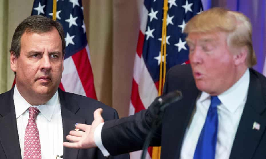 Chris Christie: that's him in the spotlight losing his religion.