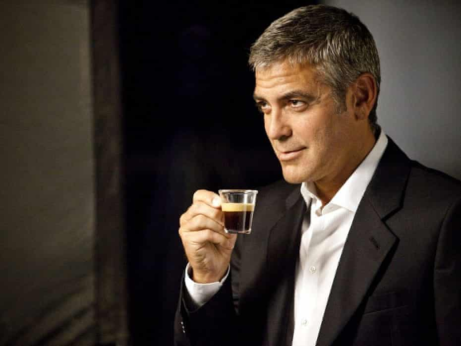 George Clooney in a Nespresso advert