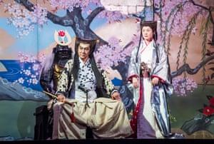 Masachika Ichimura and Yuko Tanaka in Yukio Ninagawa's Macbeth, revived at the Barbican in 2017.