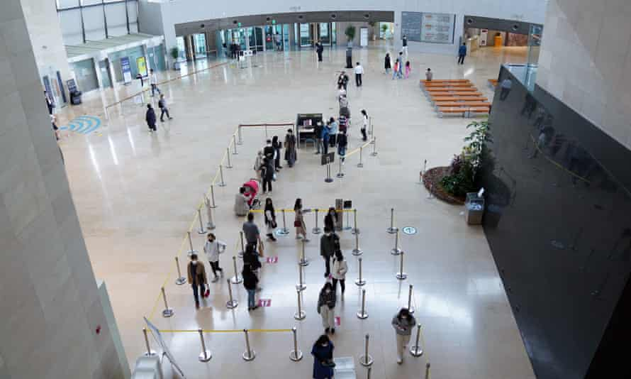 People visit the National Museum of Korea in Seoul, South Korea
