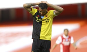 Watford's captain Troy Deeney faces up to relegation despite getting on the scoresheet at the Emirates.