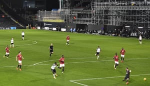 Fulham's Ademola Lookman fires home the opening goal.