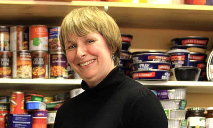 Joanne Kondabeka, a 'shepherd' who runs the local food bank.