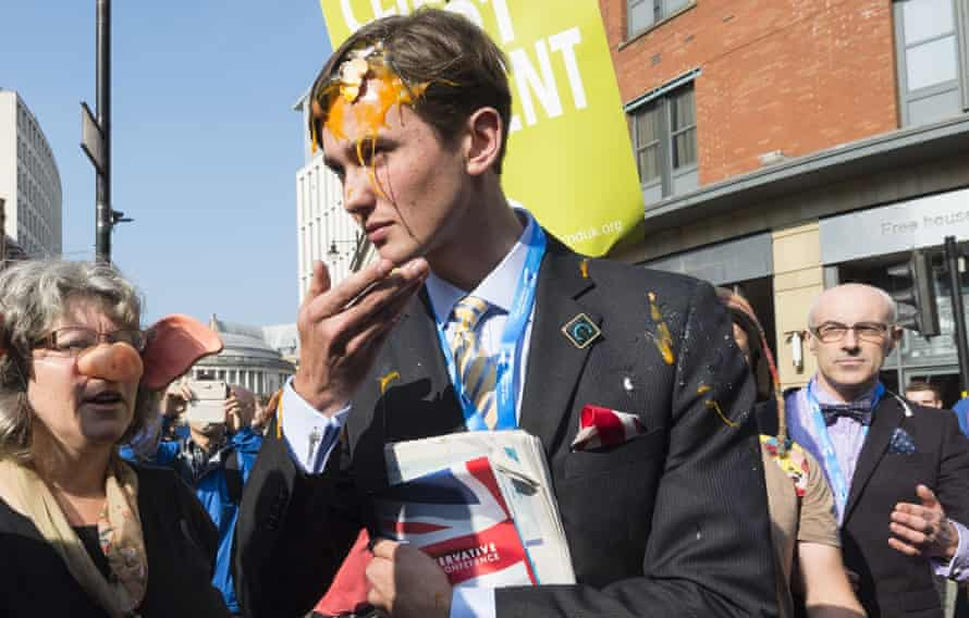 An anti Austerity Protest at the Conservative Party Conference, Manchester